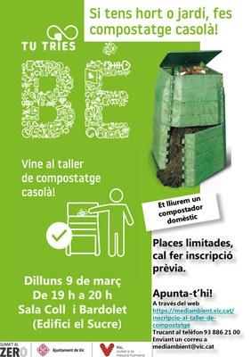 L'Ajuntament de Vic organitza un taller de compostatge gratuït