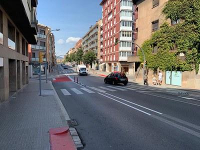 Últims treballs d'adequació del tram experimental de la ronda de Francesc Camprodon