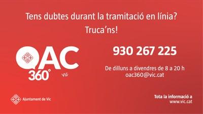 Vic activa l'OAC 360º, un nou servei d'assistència a la ciutadania per fer tràmits en línia
