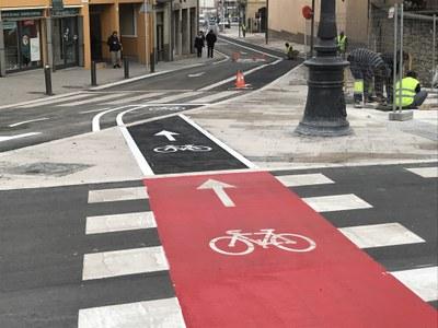 Vic millora la connectivitat dels carrils bici per afavorir el desplaçament sostenible i saludable