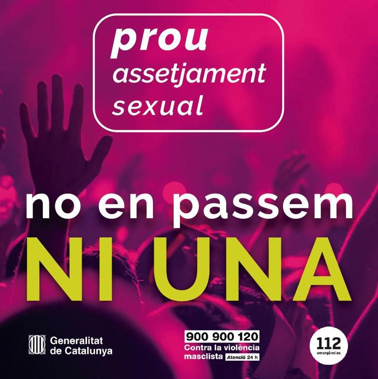 Adhesió al protocol de seguretat contra violències sexuals en entorns d'oci
