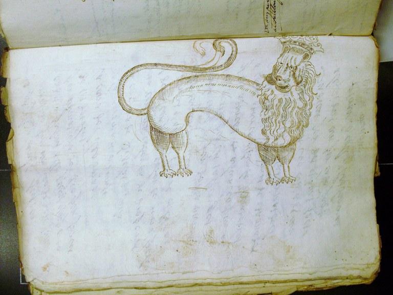 Reproducció del lleó com a figura de la imatgeria popular