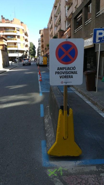 Adequació provisional de la via pública per facilitar la distància social