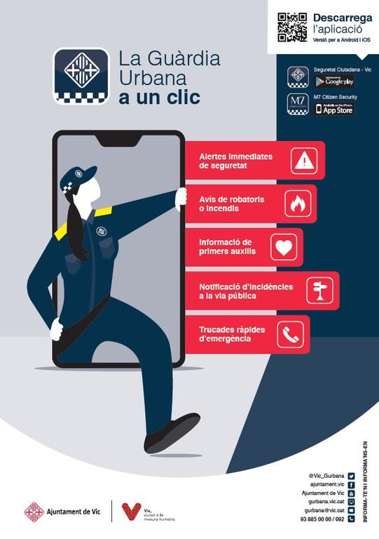 Campanya de difusió de l'ús de l'APP de seguretat ciutadana